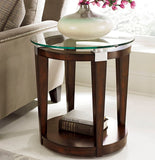 Hammary Solitaire Round Accent Table in Rich Dark Brown