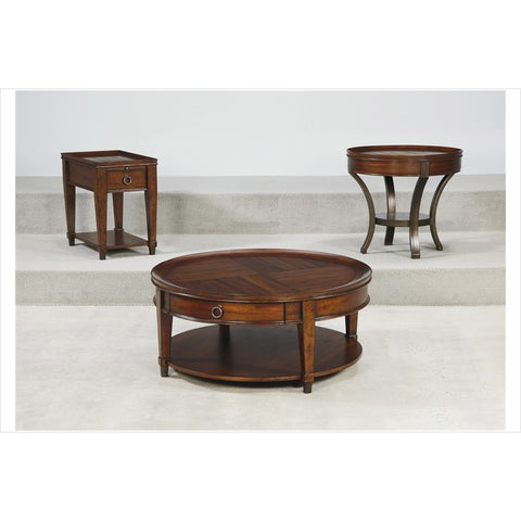 Hammary Sunset Valley 3 Piece Round Cocktail Table Set