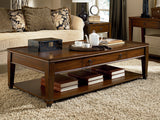 Hammary Sunset Valley 66 Inch 4 Piece Rectangular Coffee Table Set