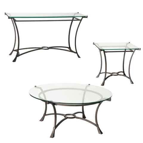 Hammary Sutton Round 3 Piece Coffee Table Set