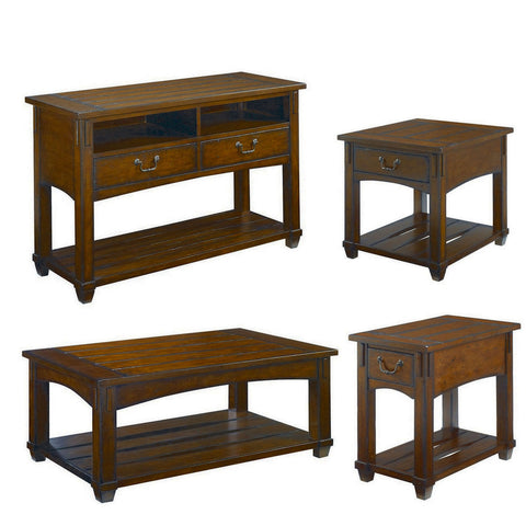 Hammary Tacoma 4 Piece Rectangular Coffee Table Set