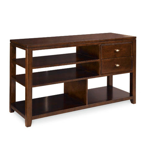 Hammary Tribecca 2 Drawer Sofa Table in Root Beer