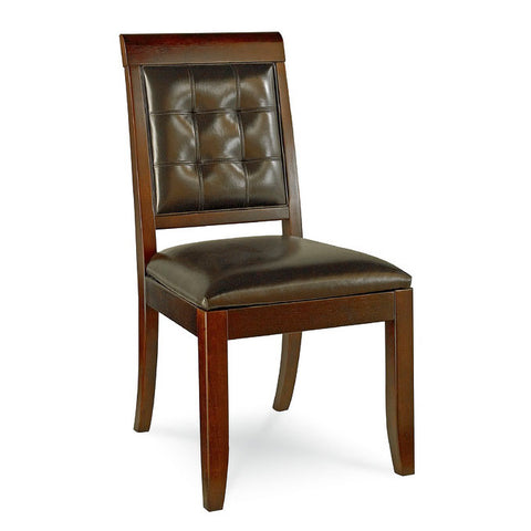 Hammary Tribecca Leather Side Chair in Root Beer