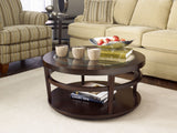 Hammary Urbana Glass Top Round Cocktail Table