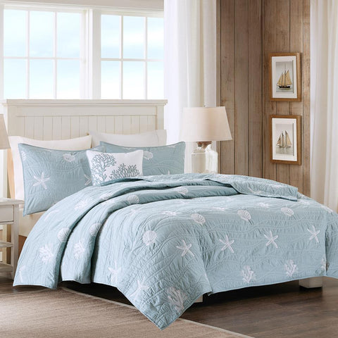 Harbor House Seaside 4 Piece Coverlet Set Full/Queen