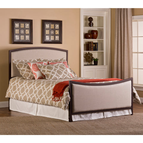 Hillsdale Bayside Upholstered Metal Bed in Bronze