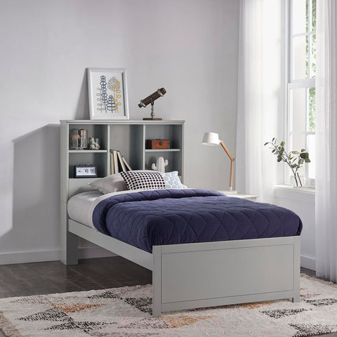 Hillsdale Caspian Twin Bookcase Bed, Gray