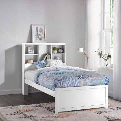 Hillsdale Caspian Twin Bookcase Bed, White
