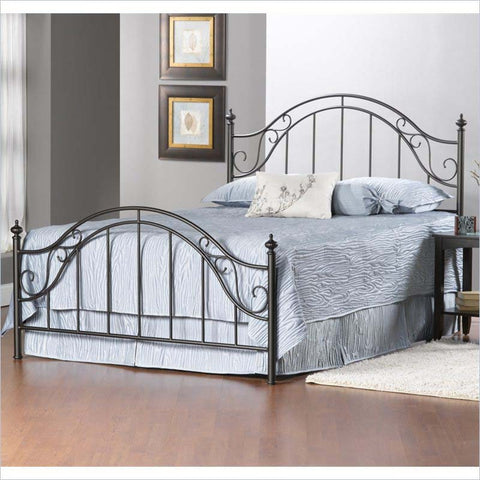 Hillsdale Clayton Metal Bed in Matte Brown