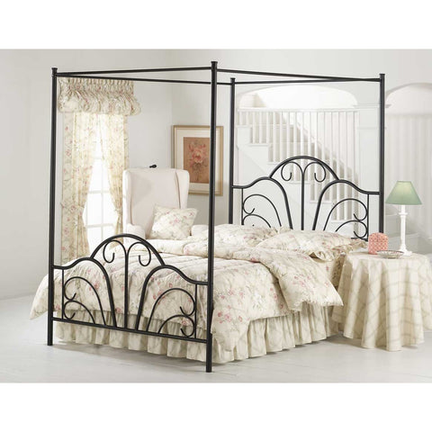 Hillsdale Dover Canopy Bed in Textured Black