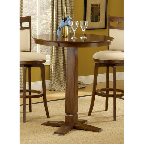 Hillsdale Dynamic Designs 36x36 Pub Table in Brown Cherry