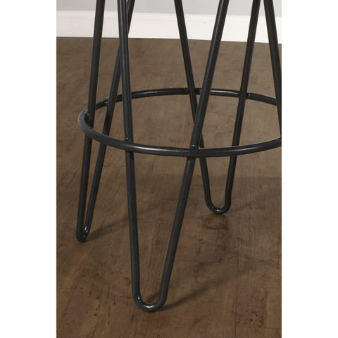 Hillsdale Furniture Dunaway Backless Stationary Barstool w/Manufactured Live Edge in Gray