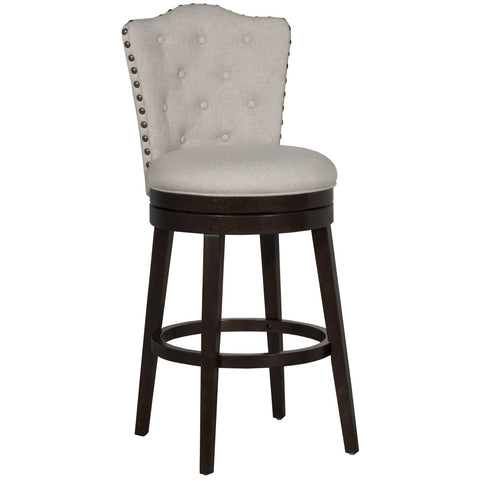 Hillsdale Furniture Edenwood Swivel Barstool in Smoke Chocolate w/Cream