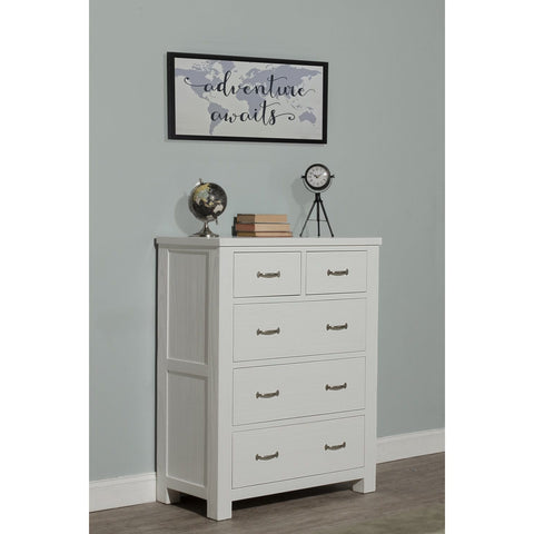 Hillsdale Furniture Highlands 5 Drawer Chest in White