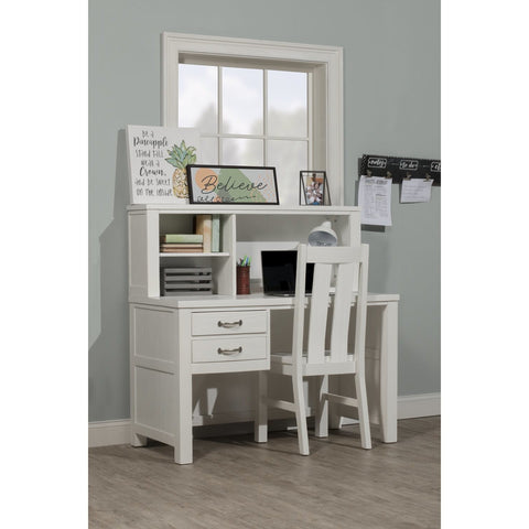 Hillsdale Furniture Highlands Desk w/Hutch & Chair in White