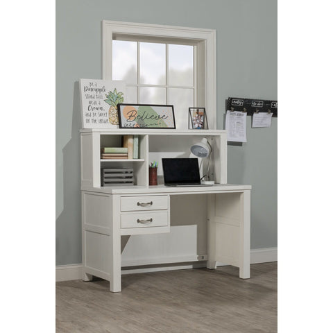 Hillsdale Furniture Highlands Desk w/Hutch in White