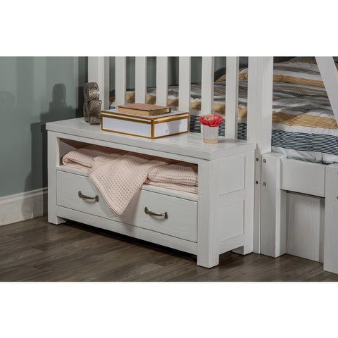 Hillsdale Furniture Highlands Dressing Bench in White