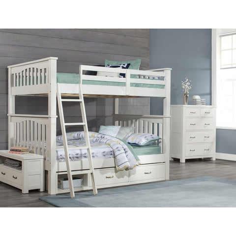 Hillsdale Furniture Highlands Harper Bunk Bed w/2 Storage Units in White