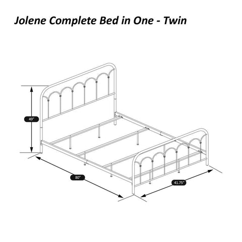 Hillsdale Furniture Jolene Bed-In-One in Textured Black