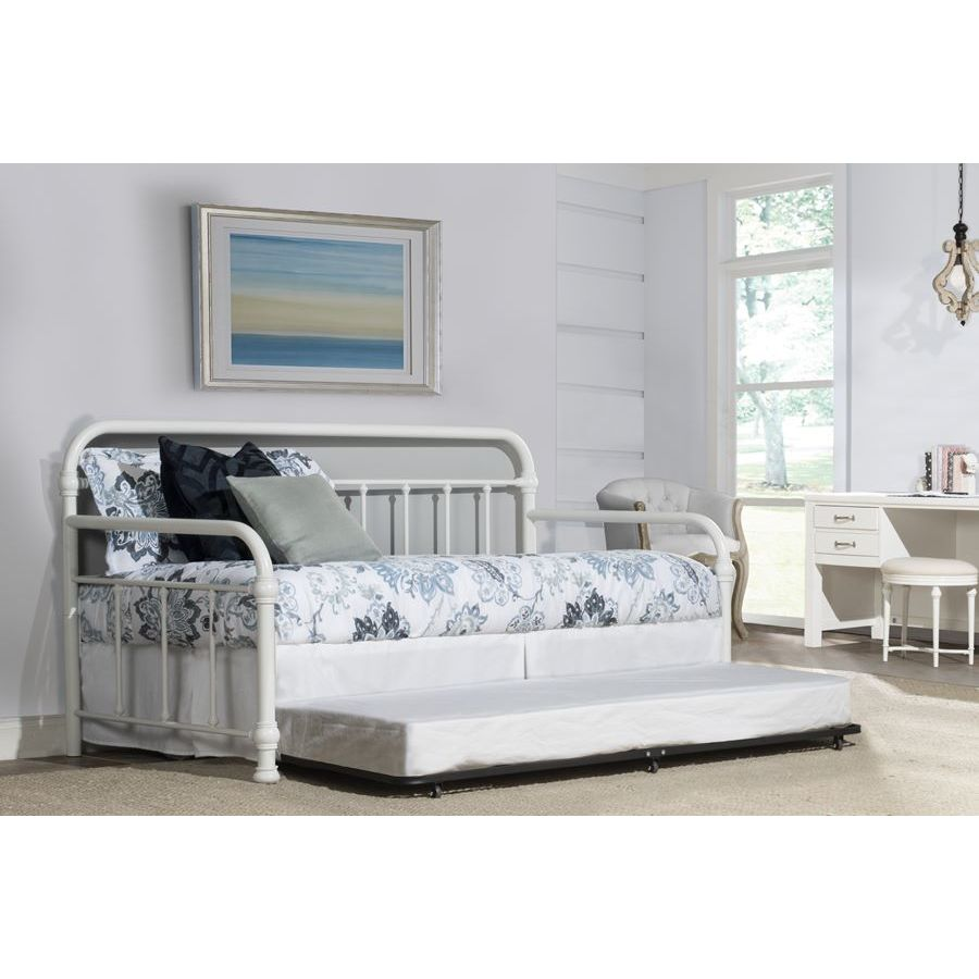 Hillsdale Furniture Kirkland Daybed W Trundle In Soft White Beyond