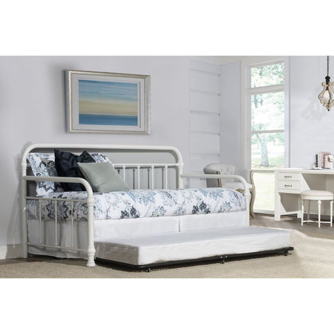 Hillsdale Furniture Kirkland Daybed w/Trundle in Soft White