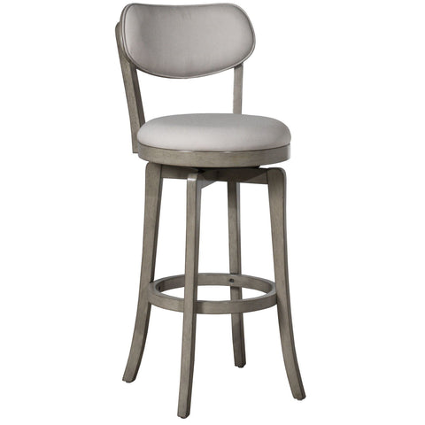 Hillsdale Furniture Sloan Swivel Barstool in Aged Gray w/Fog Gray