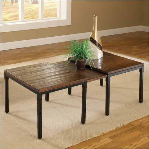 Hillsdale Granada Expandable Cocktail Table in Dark Chestnut & Brown