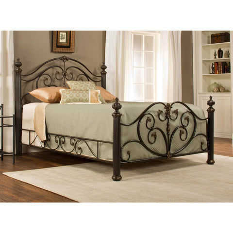 Hillsdale Grand Isle Poster Metal Bed in Brushed Bronze