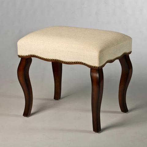 Hillsdale Hamilton Backless Vanity Stool w/Nail Head Trim in Burnished Oak