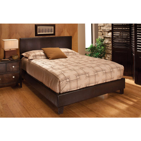 Hillsdale Harbortown Platform Bed in Brown Vinyl