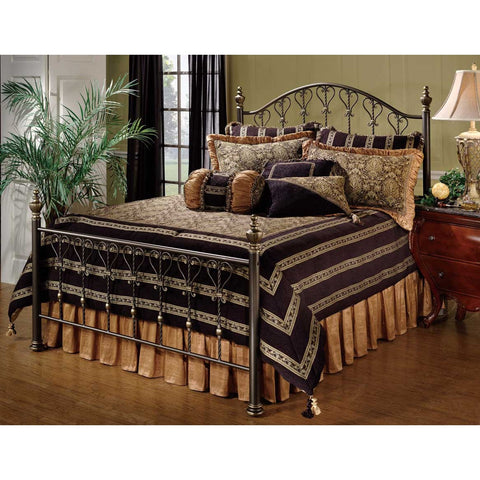 Hillsdale Huntley Metal Bed in Dusty Bronze