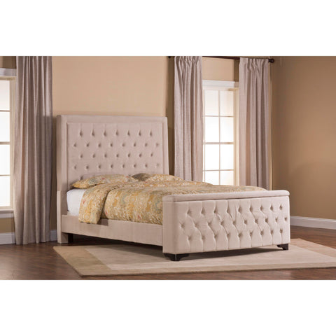 Hillsdale Kaylie Bed With Storage Footboard In Buckwheat