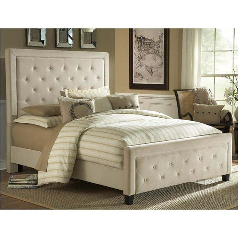 Hillsdale Kaylie Upholstered Bed in Buckwheat
