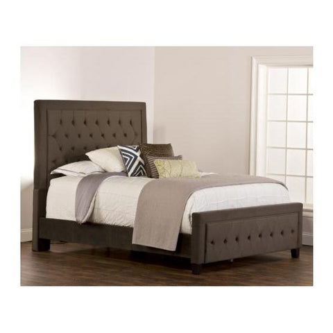 Hillsdale Kaylie Upholstered Panel Bed in Pewter