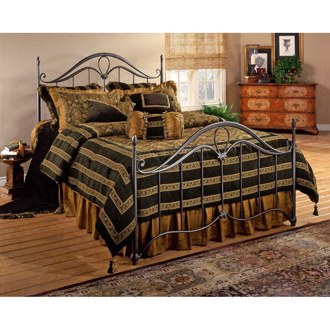 Hillsdale Kendall King Metal Bed in Bronze