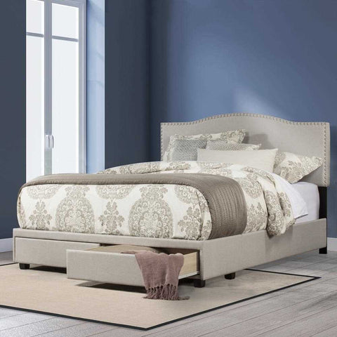 Hillsdale Kiley Upholstered Storage Bed, Fog Fabric