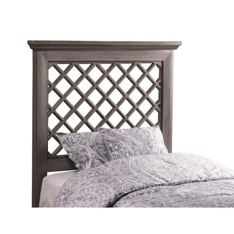 Hillsdale Kuri Headboard w/Rails in Distressed Gray