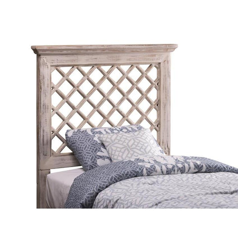 Hillsdale Kuri Headboard w/Rails in Distressed White