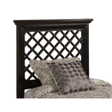 Hillsdale Kuri Headboard w/Rails in Rubbed Black