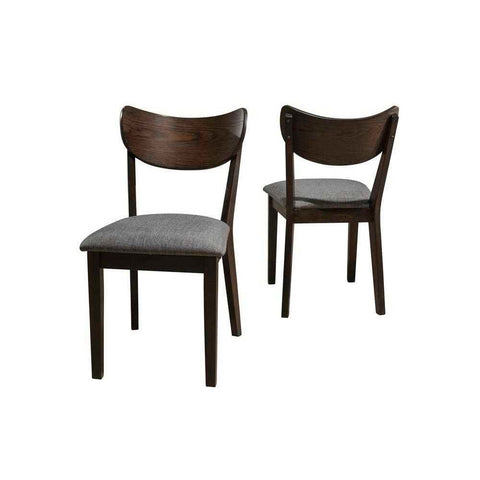 Hillsdale MIDMOD DINING SIDE CHAIR WITH WOOD BACK - 2 CHAIRS PER CARTON (CHESTNUT WITH GRAY FABRIC)