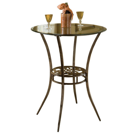 Hillsdale Marsala Bar Height Bistro Table in Gray w/Rust Highlights