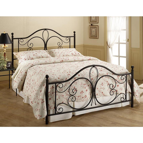 Hillsdale Milwaukee Metal Bed in Antique Brown