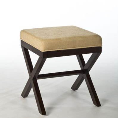 Hillsdale Morgan Wood Vanity Stool in Espresso