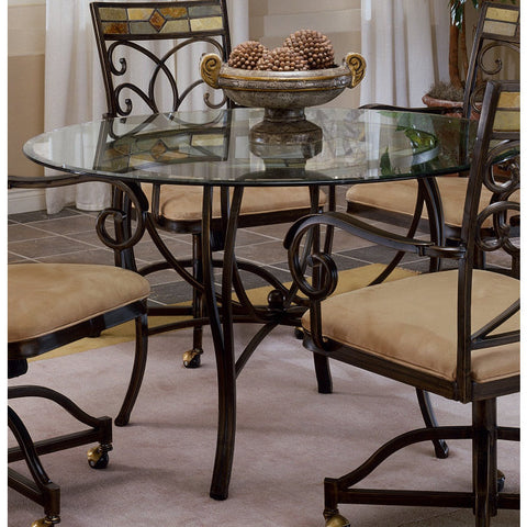 Hillsdale Pompei Metal 48x48 Round Dining Table