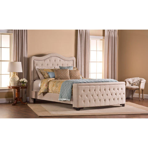 Hillsdale Trieste Bed With Storage Footboard In Buckwheat