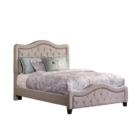 Hillsdale Trieste Upholstered Bed in Dove Gray Linen