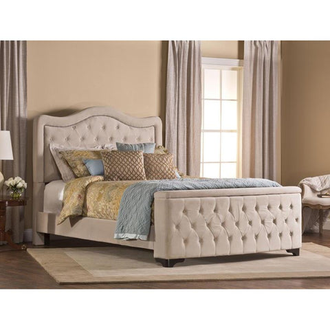 Hillsdale Trieste Upholstered King/Cal King Bed w/Storage Footboard