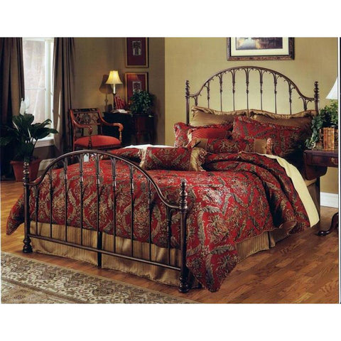 Hillsdale Tyler Metal Bed in Antique Bronze