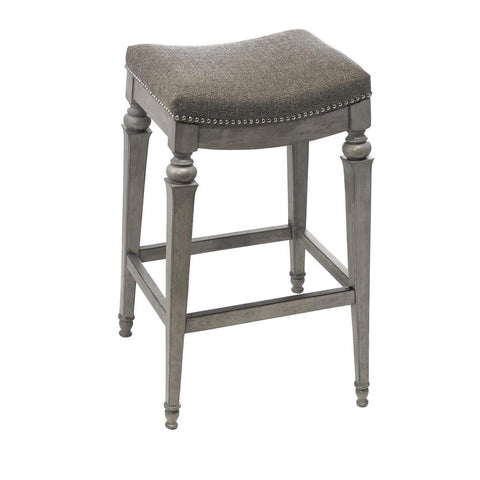 Hillsdale Vetrina Backless Non-Swivel Barstool in Weathered Gray