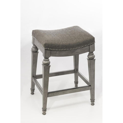 Hillsdale Vetrina Backless Non-Swivel Counter Stool in Weathered Gray